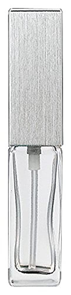 ハンサム滴下ヒュームヤマダアトマイザー 15491 メンズアトマイザー角ビン クリア キャップ ヘアラインシルバー 単品