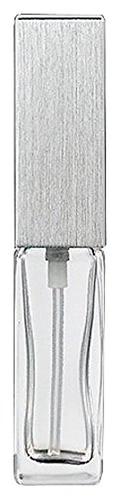 代表して休暇迷惑ヤマダアトマイザー 15491 メンズアトマイザー角ビン クリア キャップ ヘアラインシルバー 単品