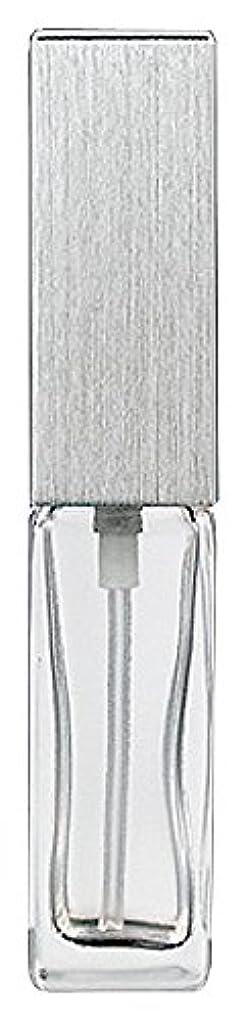 助言余暇土器ヤマダアトマイザー 15491 メンズアトマイザー角ビン クリア キャップ ヘアラインシルバー 単品