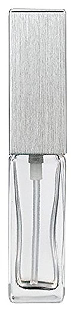 ヒール知覚フォアタイプ15491 メンズアトマイザー角ビン クリア キャップ ヘアラインシルバー