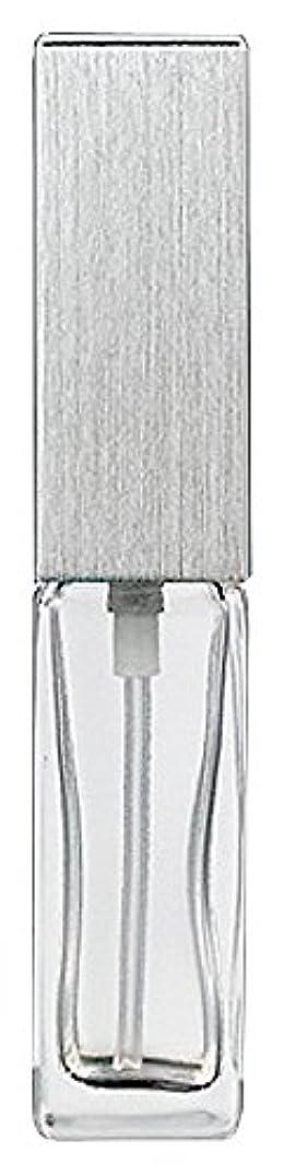 苦い膜伝えるヤマダアトマイザー 15491 メンズアトマイザー角ビン クリア キャップ ヘアラインシルバー 単品