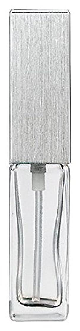 メディア半ばトランペットヤマダアトマイザー 15491 メンズアトマイザー角ビン クリア キャップ ヘアラインシルバー 単品
