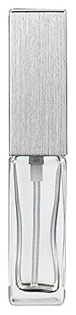 栄光抑制する落胆した15491 メンズアトマイザー角ビン クリア キャップ ヘアラインシルバー