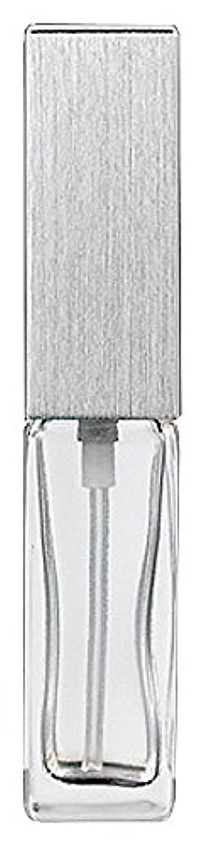 電圧対処しっかりヤマダアトマイザー 15491 メンズアトマイザー角ビン クリア キャップ ヘアラインシルバー 単品