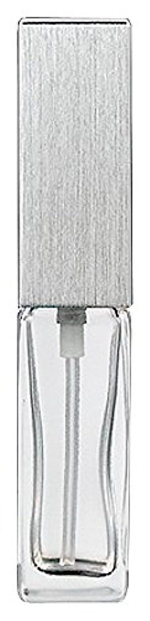 ドール空の辞書ヤマダアトマイザー 15491 メンズアトマイザー角ビン クリア キャップ ヘアラインシルバー 単品