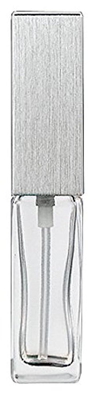 気になる破壊的な無意味15491 メンズアトマイザー角ビン クリア キャップ ヘアラインシルバー