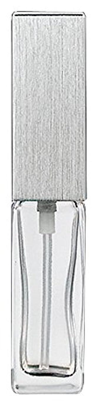 マイナーアフリカヤマダアトマイザー 15491 メンズアトマイザー角ビン クリア キャップ ヘアラインシルバー 単品