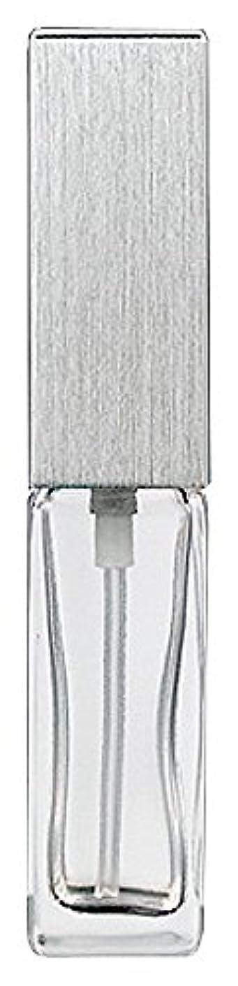 疑い機関適度に15491 メンズアトマイザー角ビン クリア キャップ ヘアラインシルバー
