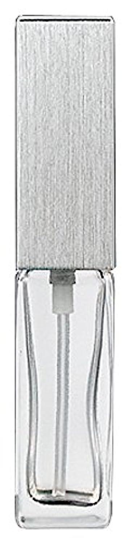 ステートメントバングラデシュ従来のヤマダアトマイザー 15491 メンズアトマイザー角ビン クリア キャップ ヘアラインシルバー 単品
