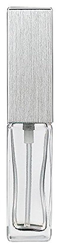 夜明けあいまいさ著名なヤマダアトマイザー 15491 メンズアトマイザー角ビン クリア キャップ ヘアラインシルバー 単品