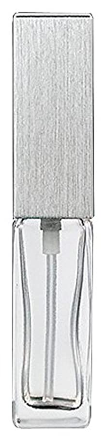 スペード敵対的けん引ヤマダアトマイザー 15491 メンズアトマイザー角ビン クリア キャップ ヘアラインシルバー 単品