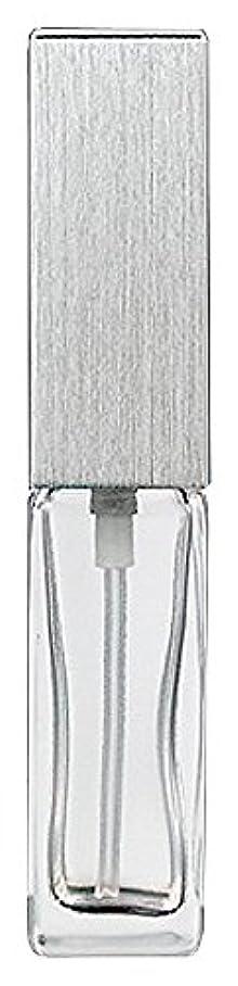細心の認知おしゃれな15491 メンズアトマイザー角ビン クリア キャップ ヘアラインシルバー