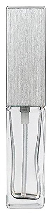 書くピン順番ヤマダアトマイザー 15491 メンズアトマイザー角ビン クリア キャップ ヘアラインシルバー 単品