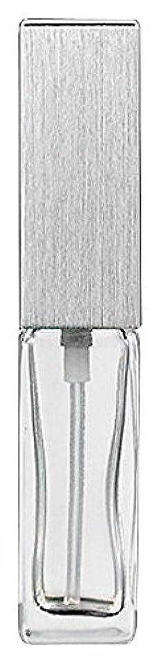 値知るイディオムヤマダアトマイザー 15491 メンズアトマイザー角ビン クリア キャップ ヘアラインシルバー 単品