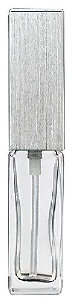 潤滑するスタンド歩道ヤマダアトマイザー 15491 メンズアトマイザー角ビン クリア キャップ ヘアラインシルバー 単品
