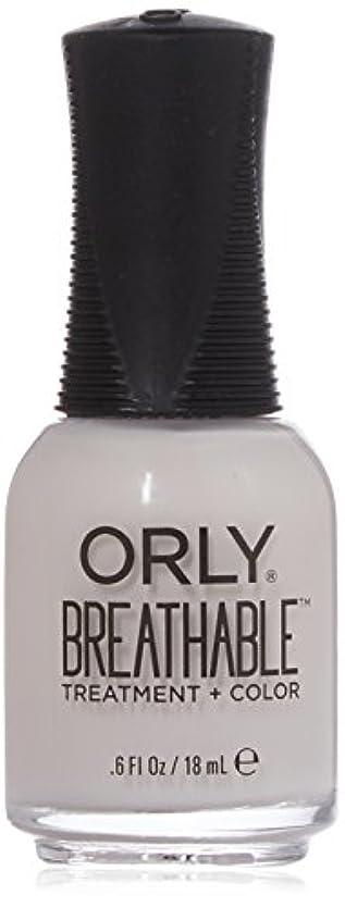 植物の一握り海峡ひもOrly Breathable Treatment + Color Nail Lacquer - Light as a Feather - 0.6oz / 18ml