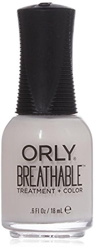 書くフットボール感じるOrly Breathable Treatment + Color Nail Lacquer - Light as a Feather - 0.6oz / 18ml
