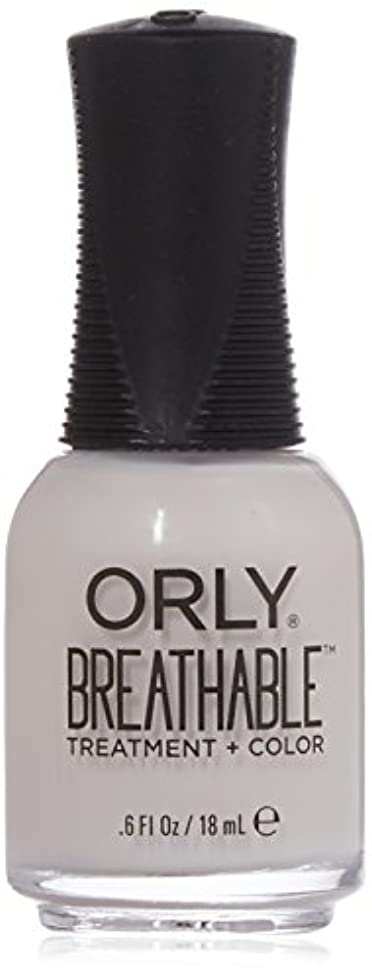 しわ不合格フロントOrly Breathable Treatment + Color Nail Lacquer - Light as a Feather - 0.6oz / 18ml