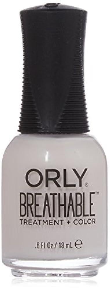 補償元の独占Orly Breathable Treatment + Color Nail Lacquer - Light as a Feather - 0.6oz / 18ml