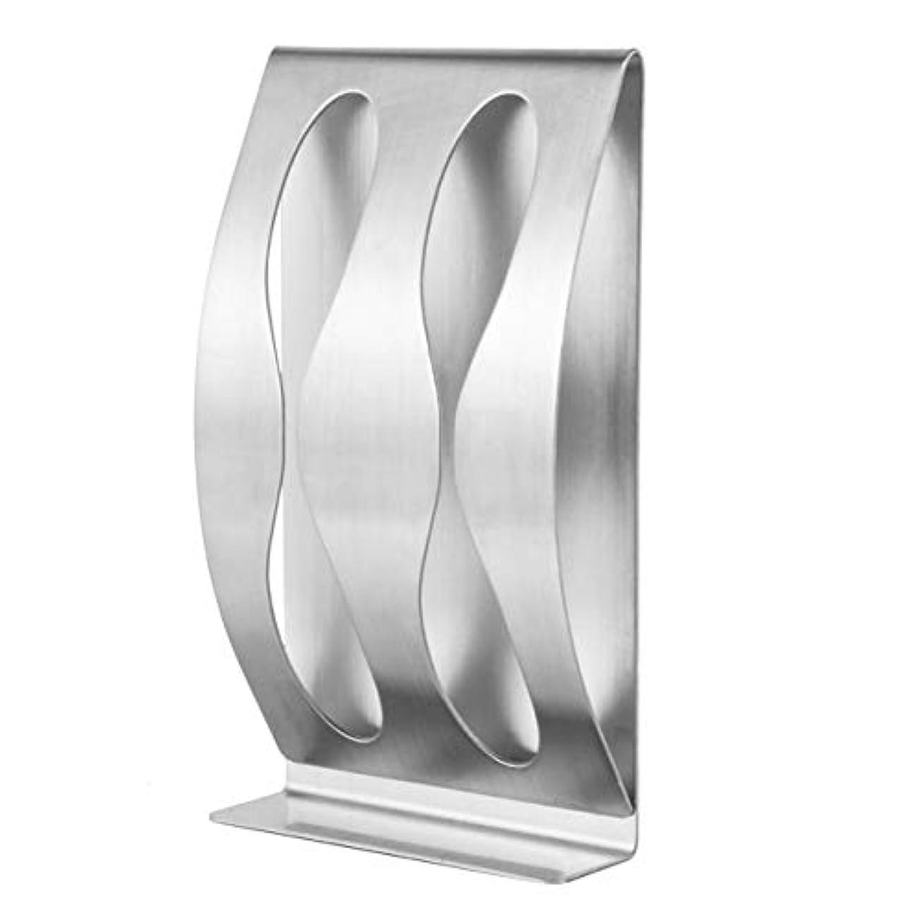 印象派反逆タイムリーな2穴の棚が付いているステンレス鋼の歯ブラシの壁に取り付けられた歯ブラシのホールダー、銀