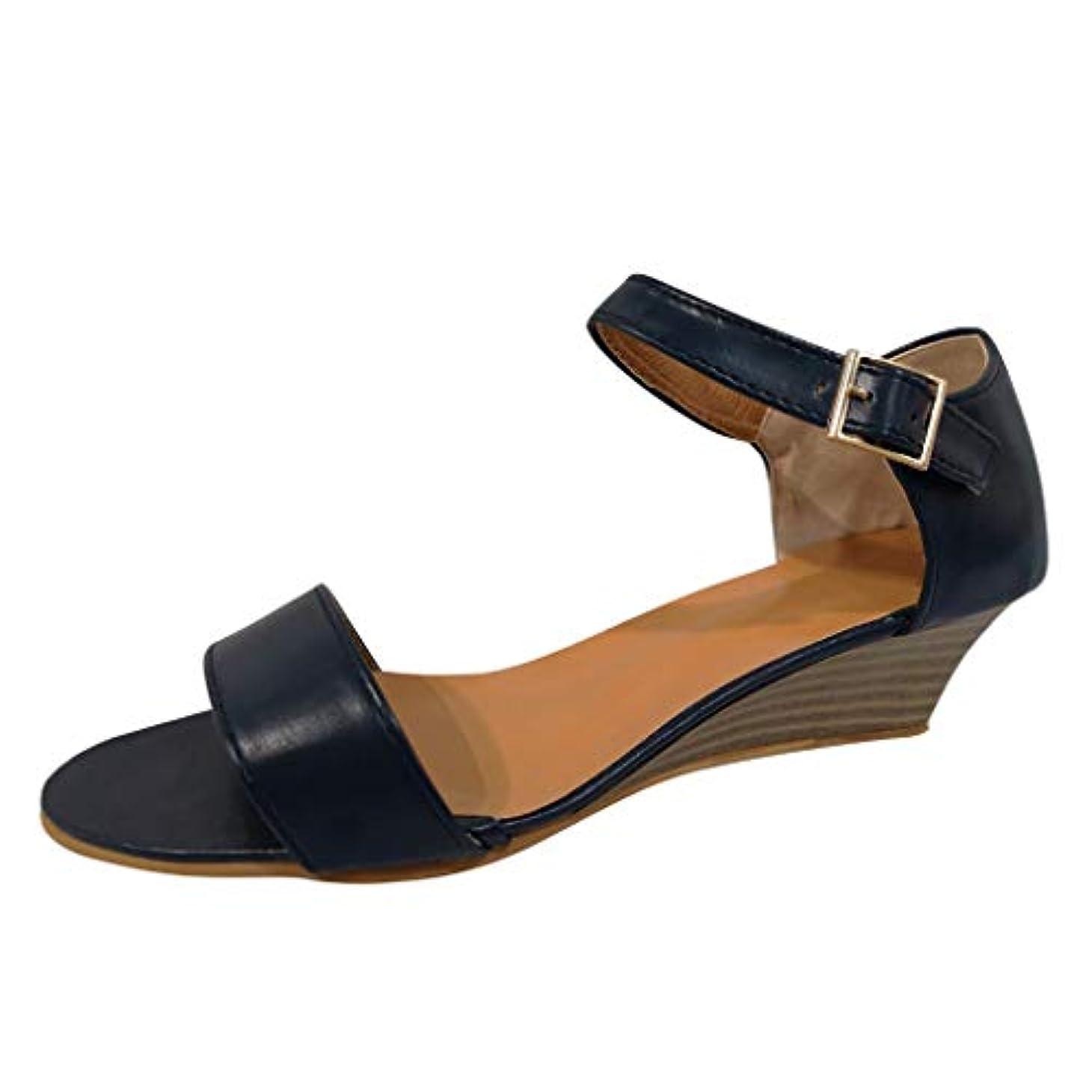 確率年ボックス美脚 ウェッジソール Foreted ミュール サンダル ローヒール 黒 ウエッジ 靴 歩きやすい 疲れないカジュアル コンフォートサンダル ストラップ 痛くない