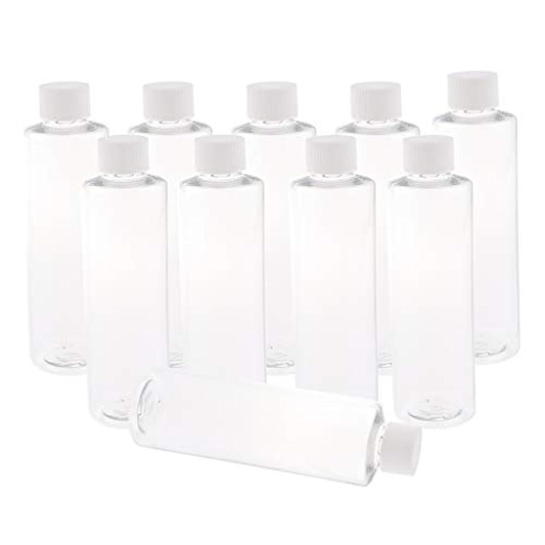 運賃バーベキュー侵入全3色 200ミリリットル PETボトル 空のボトル プラスチックボトル 詰替え容器 - ホワイトキャップ