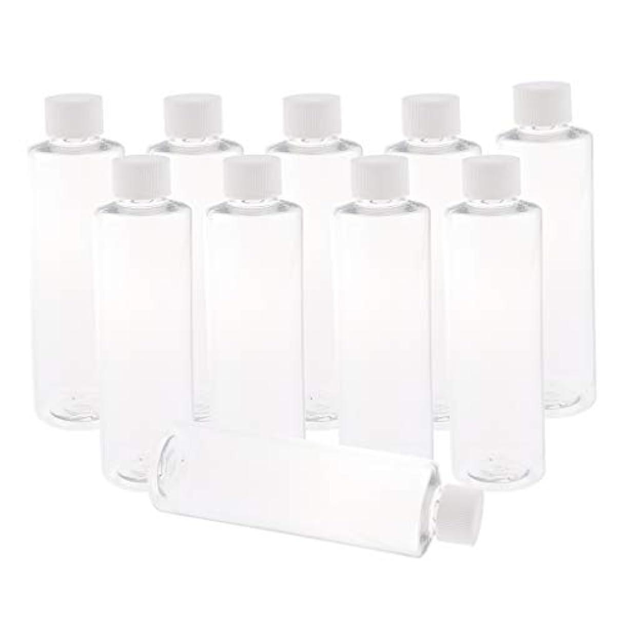 受け入れる盟主送るF Fityle 全3色 200ミリリットル PETボトル 空のボトル プラスチックボトル 詰替え容器 - ホワイトキャップ