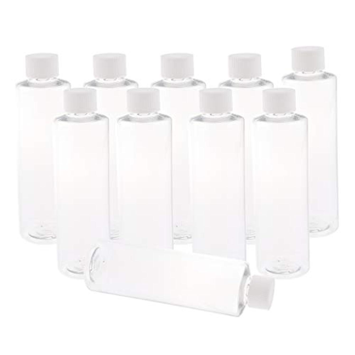 領収書葉巻生物学F Fityle 全3色 200ミリリットル PETボトル 空のボトル プラスチックボトル 詰替え容器 - ホワイトキャップ