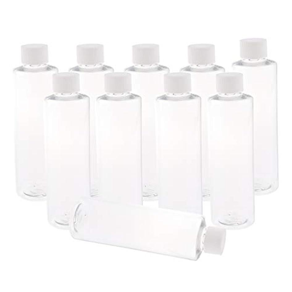 F Fityle 全3色 200ミリリットル PETボトル 空のボトル プラスチックボトル 詰替え容器 - ホワイトキャップ