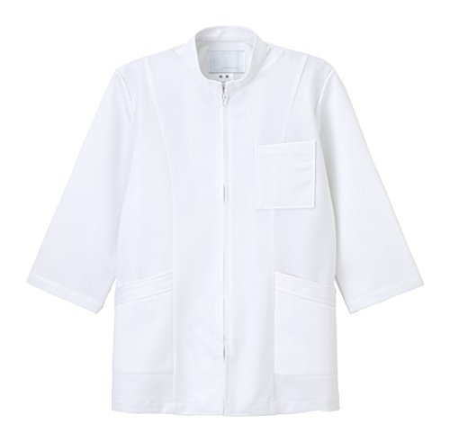 [해외]나가 이레 벤 NAGAILEBEN 남자상의 8 분 소매 US-86 (L) 화이트/Nagai Leben NAGAILEBEN Men`s upper clothes 8 minutes sleeve US-86 (L) white