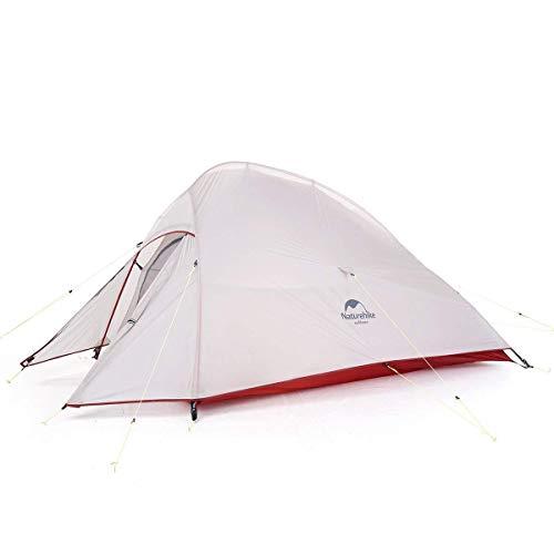 Naturehike テント 2人用 アウトドア 二重層 超軽量 4シーズン 防風防水 PU3000/4000 キャンピング プロフェッショナルテント CloudUp2アップグレード版(専用グランドシート付) (グレー(20Dアップグレード版))