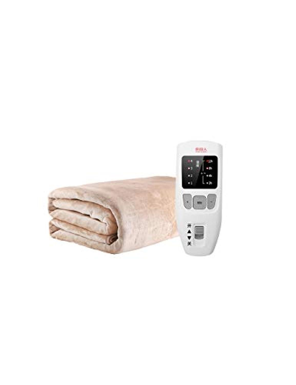 単一のコントロールタイミング電気毛布、インテリジェントな3スピードコントロール、停電保護、安全な高品質、暖かく穏やかで、操作しやすい、マルチカラー、マルチサイズ (色 : ベージュ, サイズ さいず : 180 * 80cm)