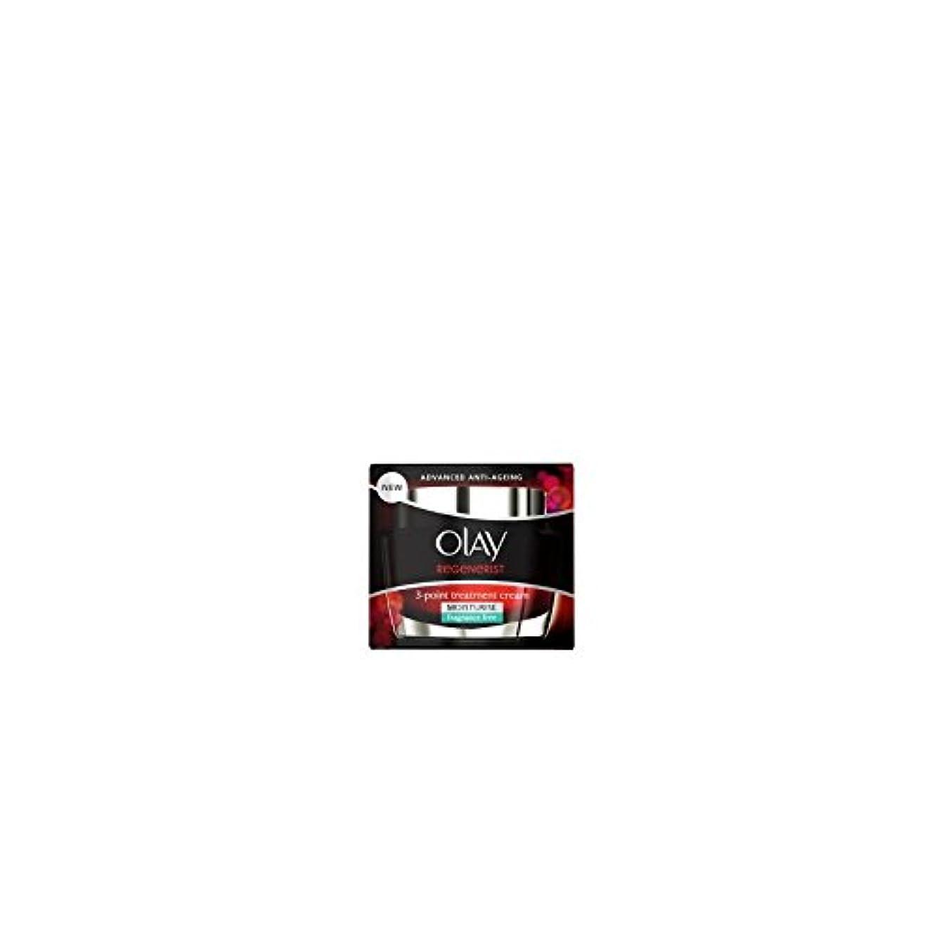 架空のシュリンクグラムオーレイリジェネ3ポイントトリートメントクリーム(無香料)(50ミリリットル) x4 - Olay Regenerist 3 Point Treatment Cream (Fragrance Free) (50ml) (...