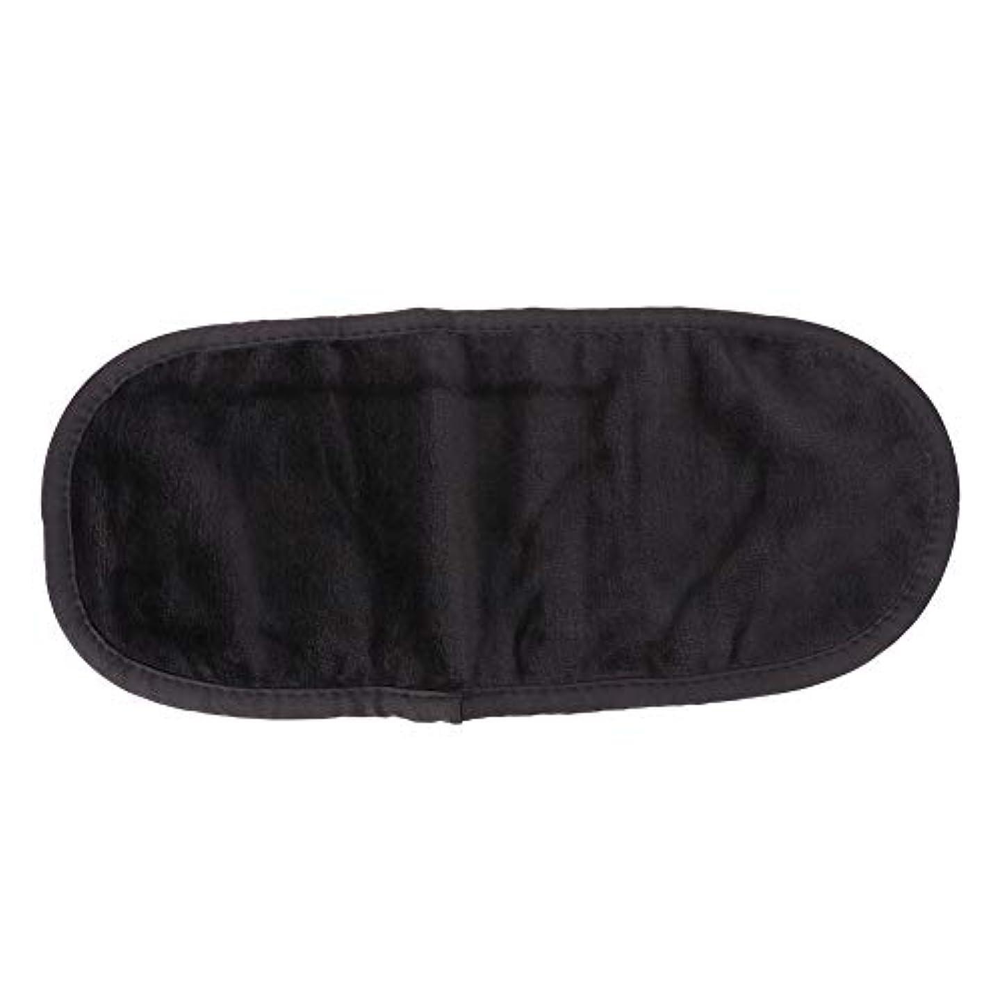 千意志気晴らし表面クリーニングタオル、超微細メイク落としスキンケア繊維ワイプ(ブラック)