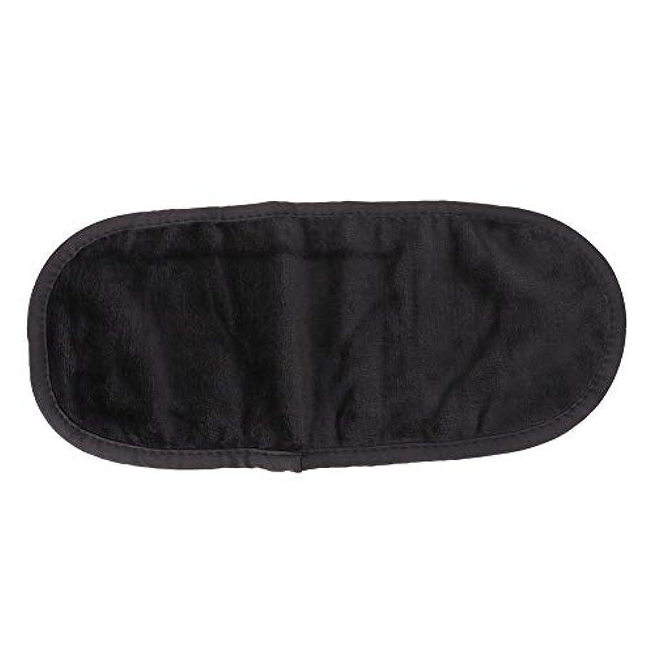 排出調査集まる表面クリーニングタオル、超微細メイク落としスキンケア繊維ワイプ(ブラック)