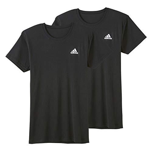 [アディダス] Tシャツ クルーネック 2枚組 APB0132 メンズ ブラック 日本 L (日本サイズL相当)