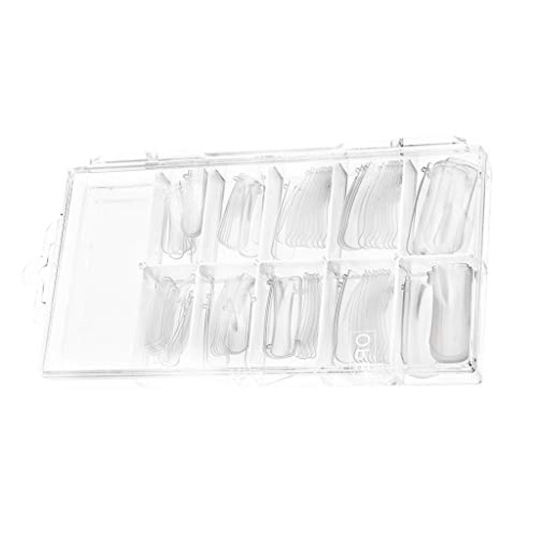月曜日したがってハーフSM SunniMix 100個入り ネイルチップつけ爪 ネイル用品 ショート デコレーション 長い 無地 付け爪 練習用
