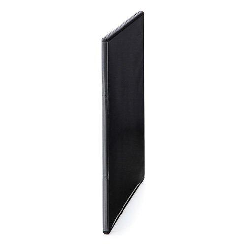 『サンワダイレクト DVDケース スリム トールケース 100枚 7mm厚 1枚収納 ブラック 200-FCD039BK-100』の1枚目の画像