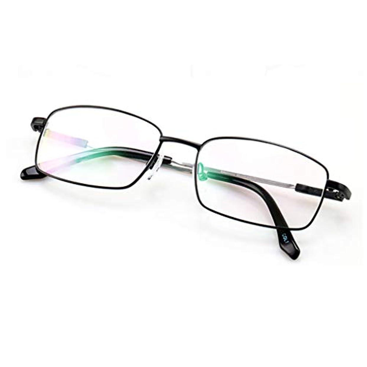 勝利した海港ブリーク金属製老眼鏡Hdアンチブルーライトプログレッシブ多焦点老眼鏡(+ 1.0、+ 1.5、+ 2.0、+ 2.5、+ 3.0)
