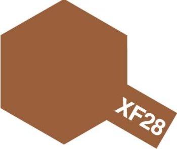 タミヤカラー アクリルミニ つや消し XF28 ダークコッパー 10ml 81728