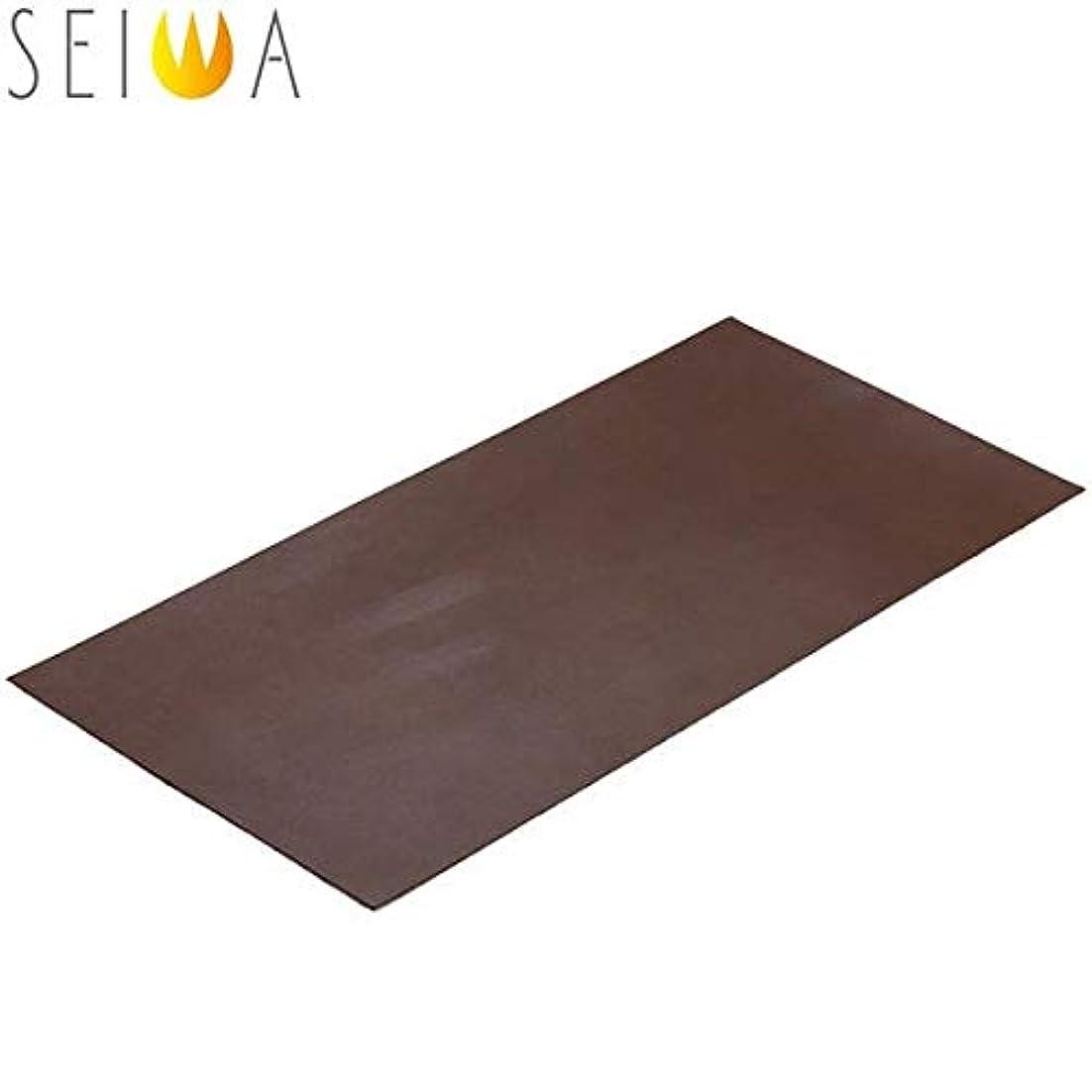 ピカソ海藻ありそう誠和(SEIWA/セイワ) レザークラフト ヌメロ カット革 約1.6ミリ厚(牛革) 20×40cm チョコ