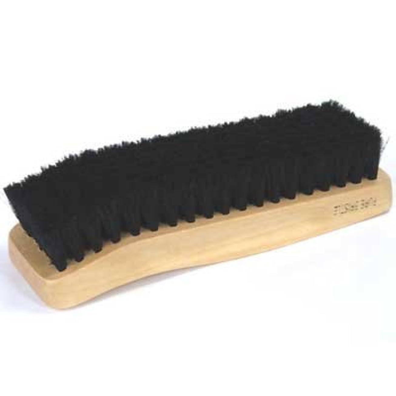 縞模様のキウイストッキング[コロンブス] COLUMBUS ハリスブラシ472(ブラック) 手に持ちやすい木製タイプ