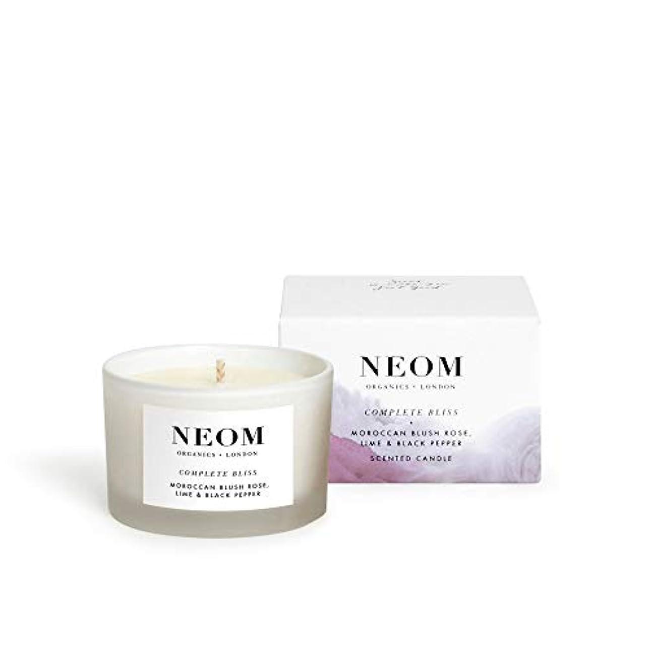 木材ヒステリック活性化する[Neom] Neom完全な至福の旅行キャンドル75グラム - Neom Complete Bliss Travel Candle 75g [並行輸入品]