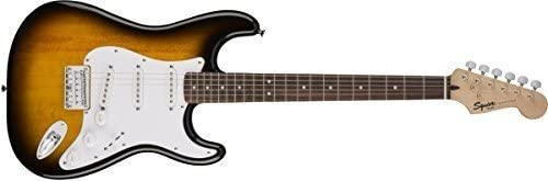 Squier by Fender エレキギター Bullet Stratocaster Hard Tail, Rosewood Fingerboard, Brown Sunburst