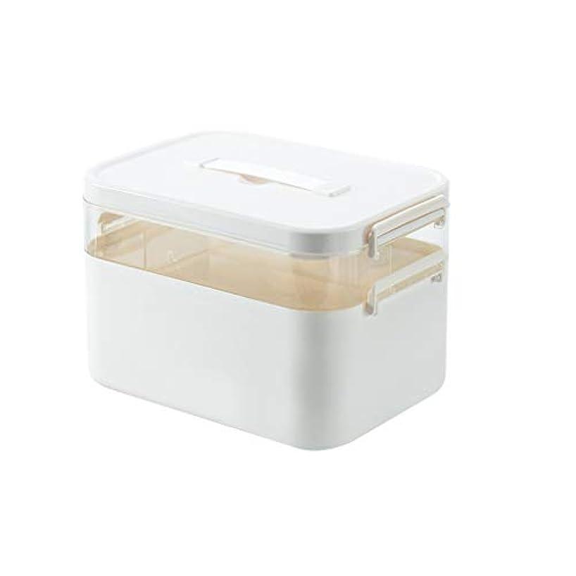 郵便物いらいらするアプトYYFRB 家庭用ポータブル多層薬箱、大容量の薬保管箱、階層型家族救急キット 医学パッケージ
