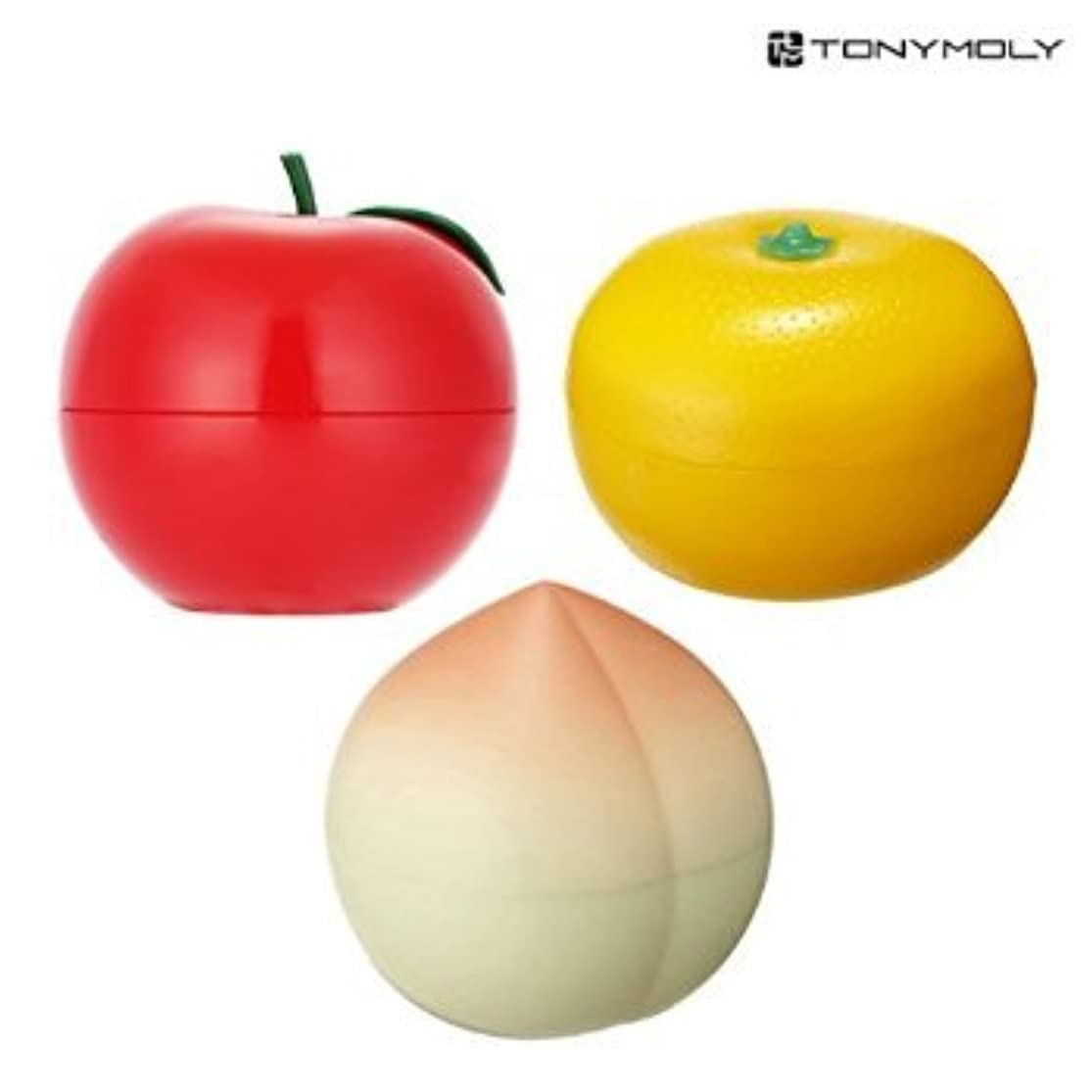 収縮あそこ開始TONYMOLY Fruit Hand Cream (3 Set (Red Apple + Tangerine + Peach))