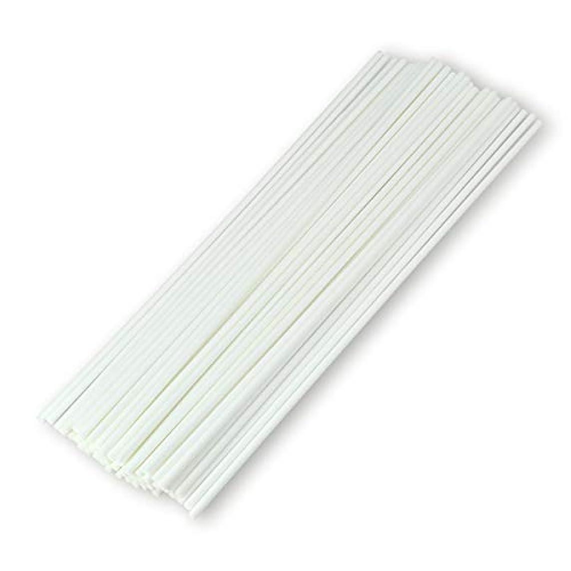 コカインアコー削る50本入アロマファイバーディフューザー交換用スティック(20cm*3mm,白)