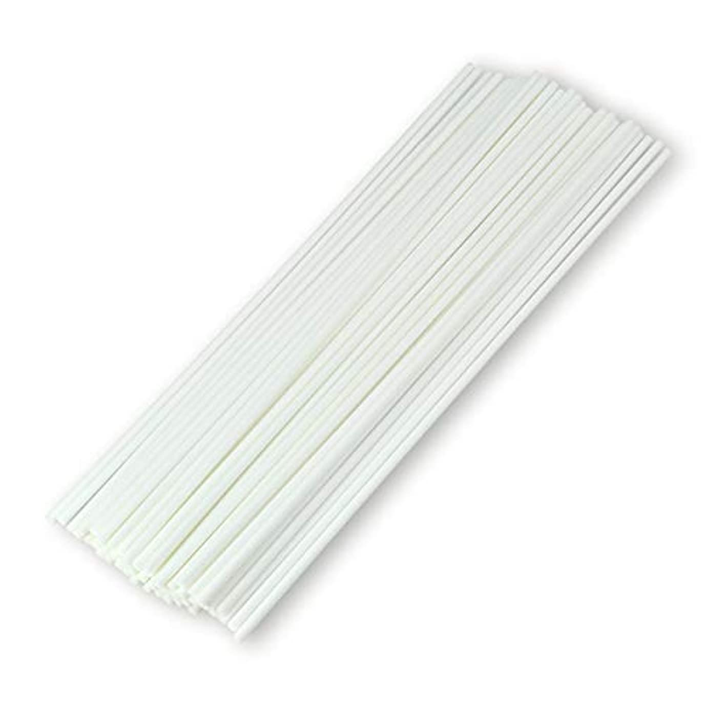 仕様ベッツィトロットウッド祝福する50本入アロマファイバーディフューザー交換用スティック(25cm*3mm,白)
