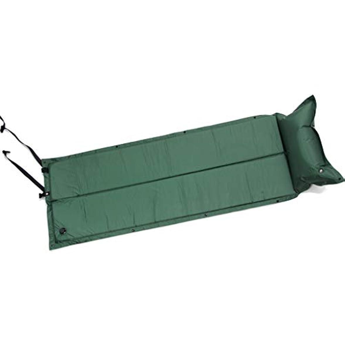 専門知識提供されたつかむBrechton Sleeping Pad with Pillow-超快適なインフレータブルキャンプフォームエアマットレス-テント、ベビーベッド、ハイキング、バックパッキング用の理想的なインフレータブルキャンプベッドマット,グリーン