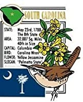 South Carolina The Palmetto State Montage Fridge Magnet by Saddle Mountain Souvenir